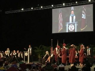 Jimmy Fallon makes surprise speech at Marjory Stoneman Douglas commencement