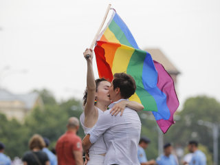LGBTQ pride parade turnout defies conservative times in Poland