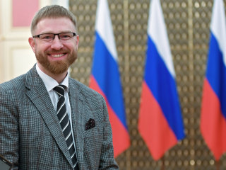 This man is running Russia's newest propaganda effort in the U.S. — or at least he's trying to