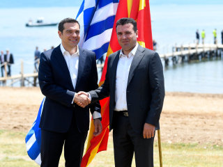 Greece, Macedonia sign deal to end dispute and change ex-Yugoslav republic's name