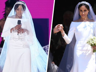 Tiffany Haddish wears Meghan Markle-inspired wedding gown at MTV Movie & TV Awards