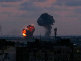 Israel hits Hamas positions in Gaza after militants fire rockets