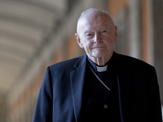 Cardinal Theodore McCarrick, ex-archbishop of Washington, removed from ministry after sex abuse allegation