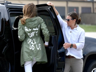 Social media cared about what Melania Trump wore on her way to visit migrant kids