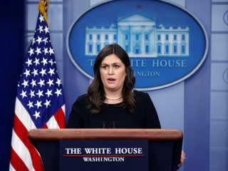 White House Press Secretary Sarah Sanders says she was told to leave Virginia restaurant
