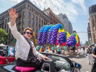 Celebration, defiance mix at New York City gay pride parade