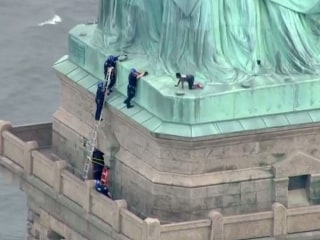 Judge sentencing protester for climbing Statue of Liberty wants to climb it, too