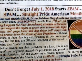 Elected official under fire after calling for 'Straight Pride' Month