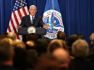 Pence visits ICE headquarters, rips 'spurious' attacks by Democrats