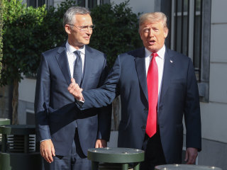 At NATO summit, Trump again alienates allies and compliments enemies