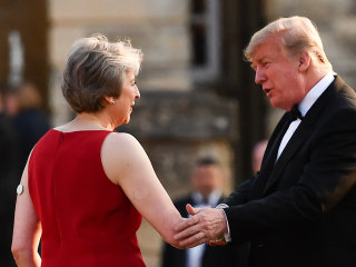 Trump blasts Theresa May in interview a day before meeting