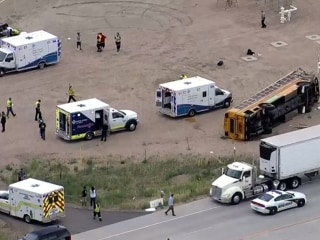 Multiple injuries after school bus crashes in Colorado