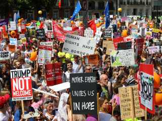 Trump in Britain: London demonstrators come out in force against U.S. president