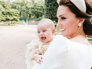 Baby face! Royal family releases bonus photo from Prince Louis's christening