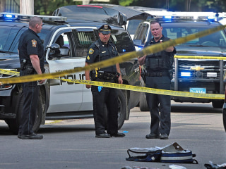 Massachusetts police officer was shot 10 times with his own gun