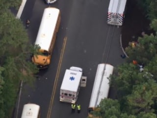 Several injured as five school buses pile up in New Jersey
