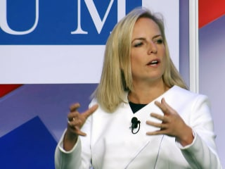 Kirstjen Nielsen won't say whether Russian meddling favored Trump