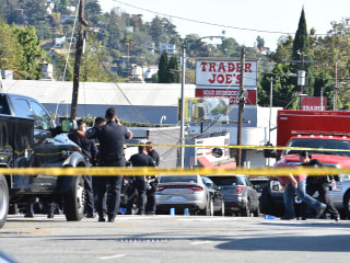 Shooting suspect flees into Los Angeles Trader Joe's, people inside