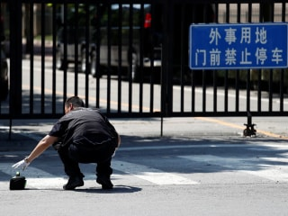 Small explosion outside U.S. Embassy in Beijing injures 'bomber'