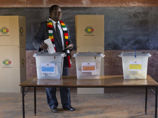 Zimbabwe's Emmerson Mnangagwa declared winner in first post-Mugabe election