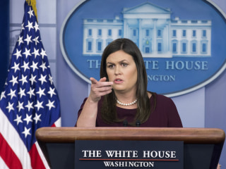 Sarah Sanders says she 'can't guarantee' there's no tape of Trump using the N-word