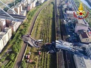 Genoa bridge collapse spurs finger-pointing; death toll rises