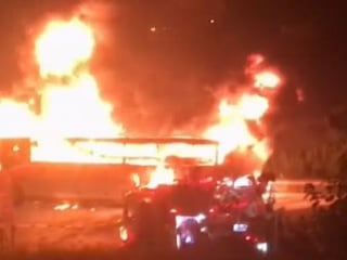 Commuter bus goes up in flames in N.J.
