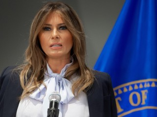 Melania Trump says social media can be 'harmful' as Trump sends derisive tweets