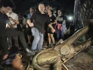 Protesters topple Confederate statue 'Silent Sam' at University of North Carolina