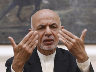 Ashraf Ghani's holiday speech interrupted by Taliban rockets