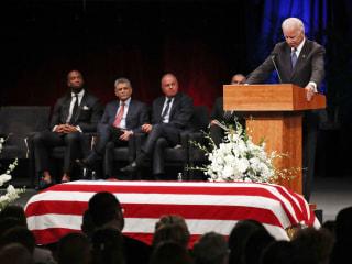 McCain family bids emotional farewell to statesman in Phoenix memorial
