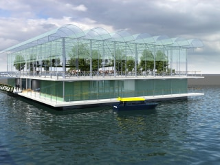 World's first floating dairy farm could be wave of the future