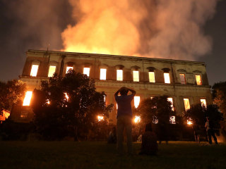 Brazil mourns lost treasures after massive fire guts National Museum