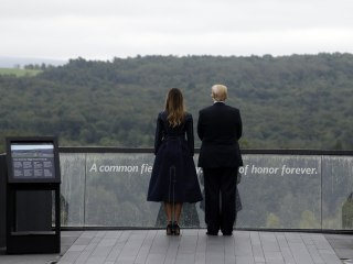 Trump says he found border wall inspiration at Flight 93 memorial