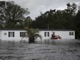 Florence floodwaters swamp North Carolina's isolated communities