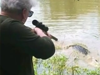 Texas great-grandmother shoots 12-foot gator as revenge for killing mini-horse