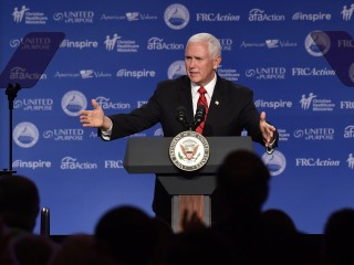 Pence is first VP to speak at anti-gay group's Values Voter Summit