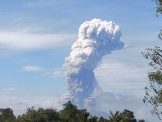 Volcano erupts on Indonesia's quake and tsunami-hit Sulawesi