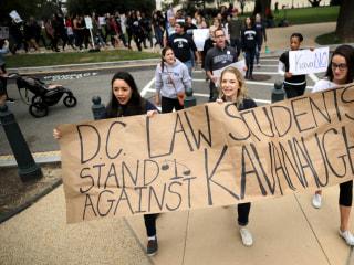 Activist rallies against Brett Kavanaugh heat up surrounding final vote