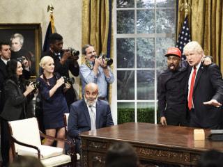 'SNL' skewers Kanye West's visit with President Trump