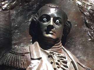 Vandalism of Revolutionary War statue with 'googly eyes' prompts police probe