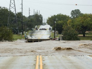 Bridge collapses as heavy rains flood central Texas