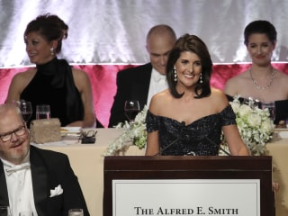 Amid jokes at Al Smith Dinner, Nikki Haley says 'our opponents are not evil'