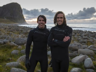 Chilling out at the Lofoten Masters, the world's northernmost surf contest