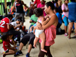 Migrants from Honduras take shelter in Mexico before heading to U.S. border