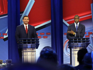 Gillum, DeSantis debate whether Trump's a good role model for kids in Florida faceoff
