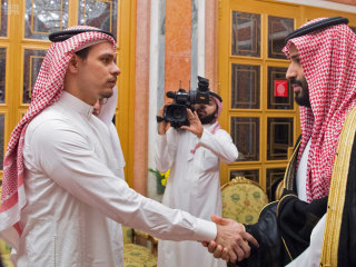 Saudi King Salman and crown prince meet Khashoggi family members