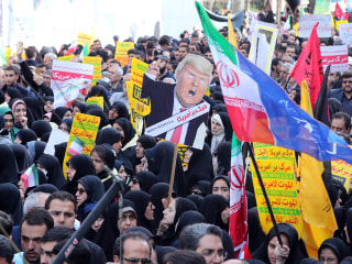 As Trump restores sanctions, Iranians rally to mark anniversary of U.S. Embassy takeover