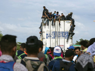 Migrant caravan embarks on 'route of death' through Mexico