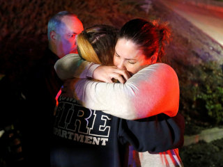 Scenes of grief, shock at site of mass shooting at California bar